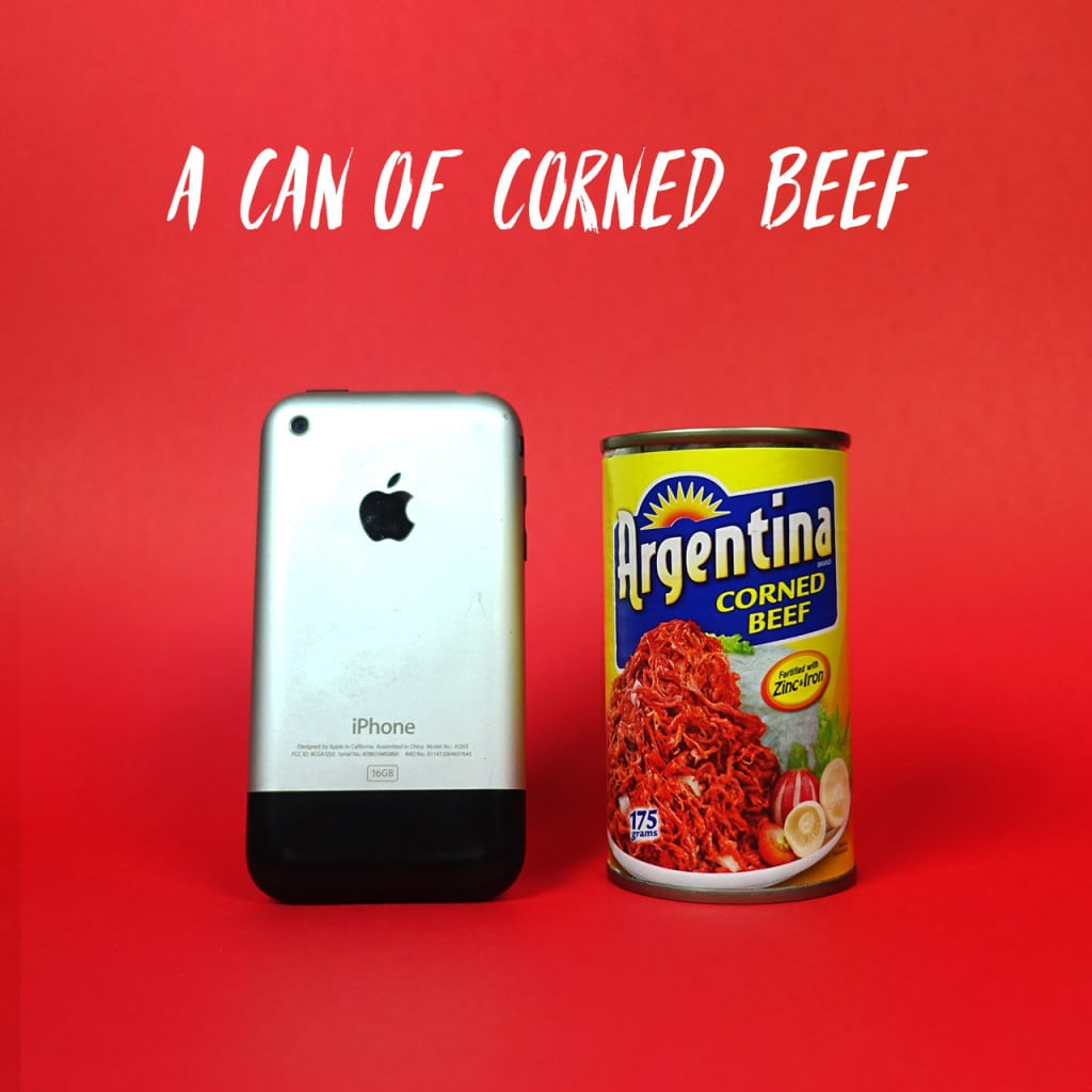 A can of corned beef