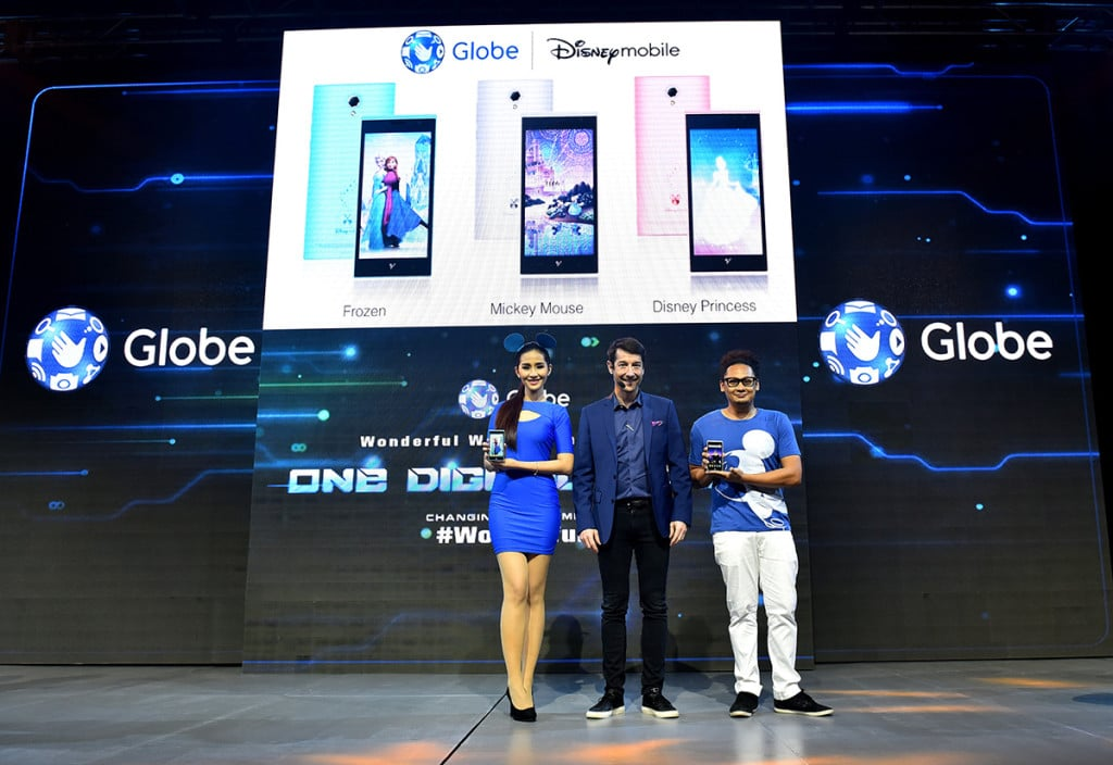 Globe Senior Advisor for Consumer Business Dan Horan announces launch of Disney Mobile in the Philippines, the first country to get the Android smartphone in Southeast Asia.