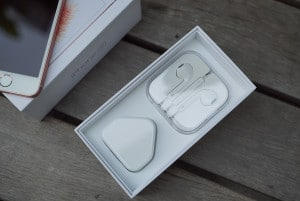 Inside the box are the iPhone's accessories