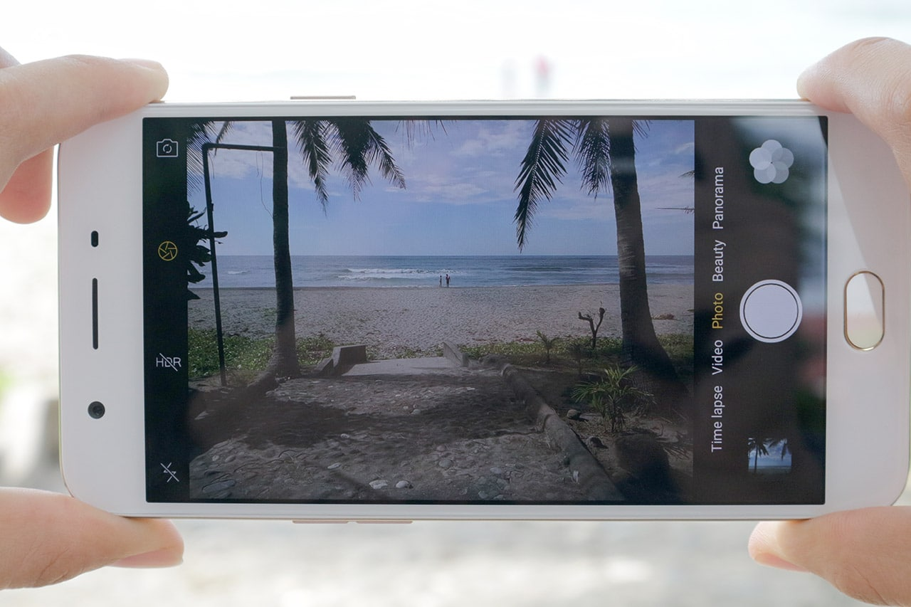 OPPO F1s camera interface