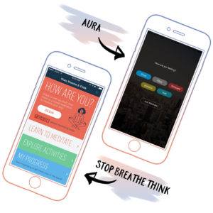 Time to meditate with these apps: Aura and Stop, Breathe & Think
