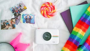 Polaroid Snap Touch flatlay
