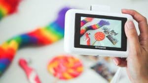 The Polaroid Snap Touch taking photos