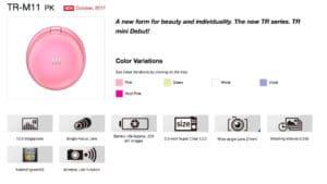 Casio TR mini selfie camera specs