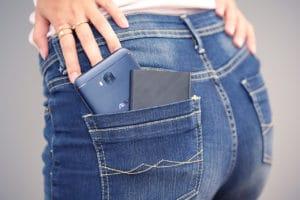 ASUS ZenPower Slim in back pocket