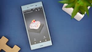 Sony Xperia XZ1 3D scanning food