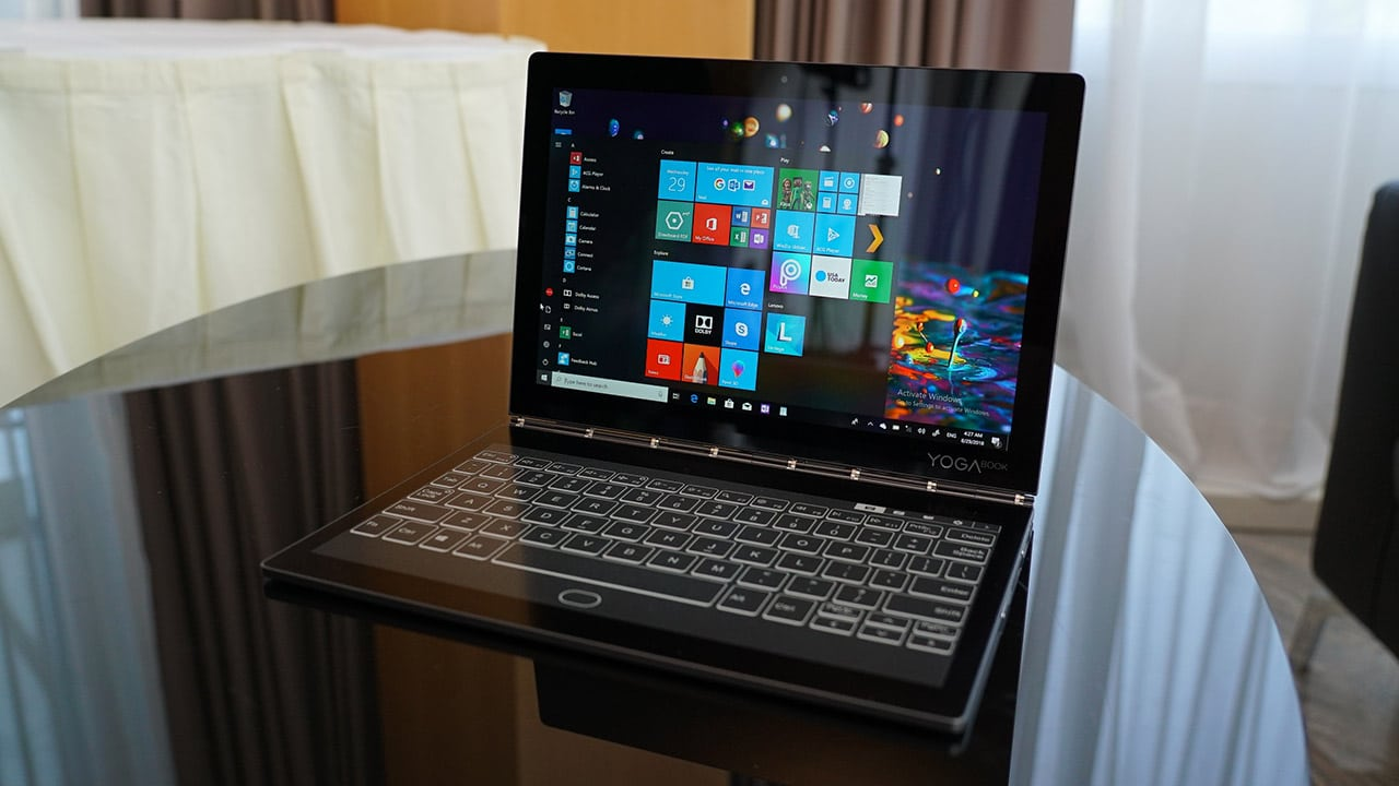 Lenovo Yoga Book C930 Is World S Thinnest And Lightest Dual Display Laptop Gadgetmatch