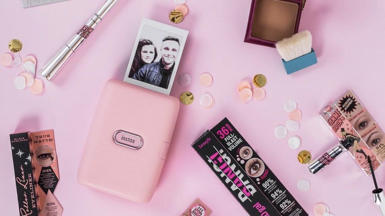 Kết quả hình ảnh cho fujifilm instax mini link smartphone printer (dusky pink)