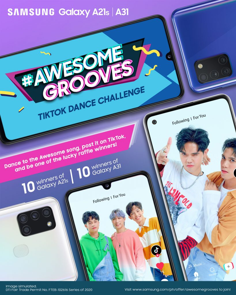 Samsung #AwesomeGrooves TikTok poster